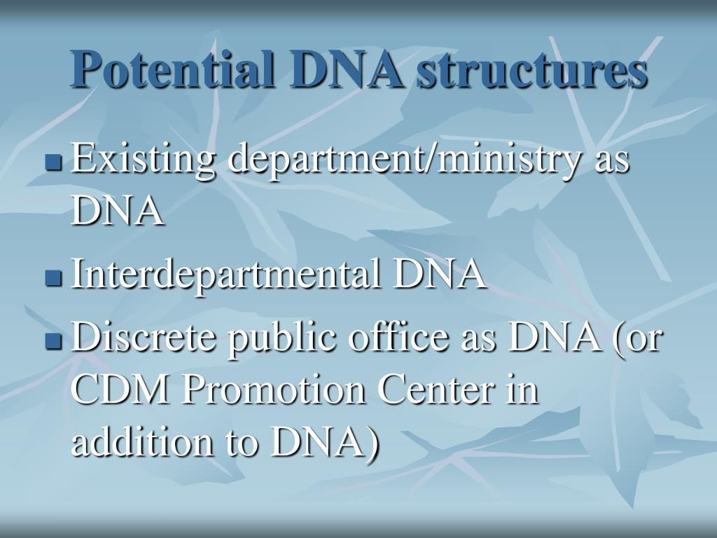Potential DNA structures
