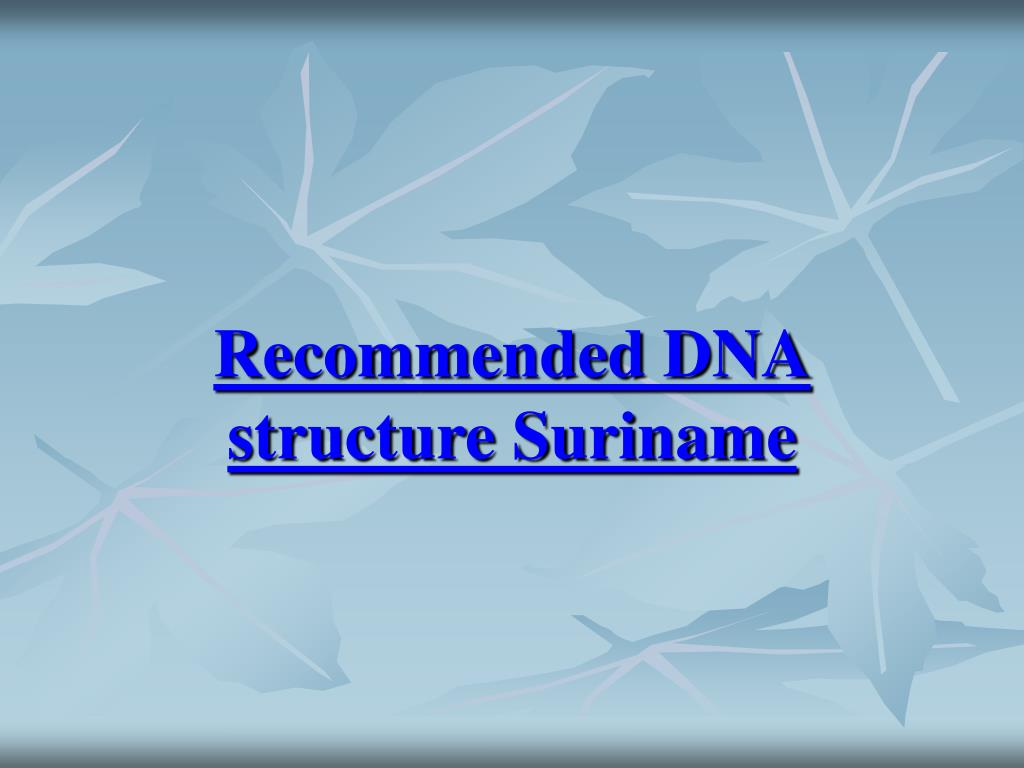 Recommended DNA