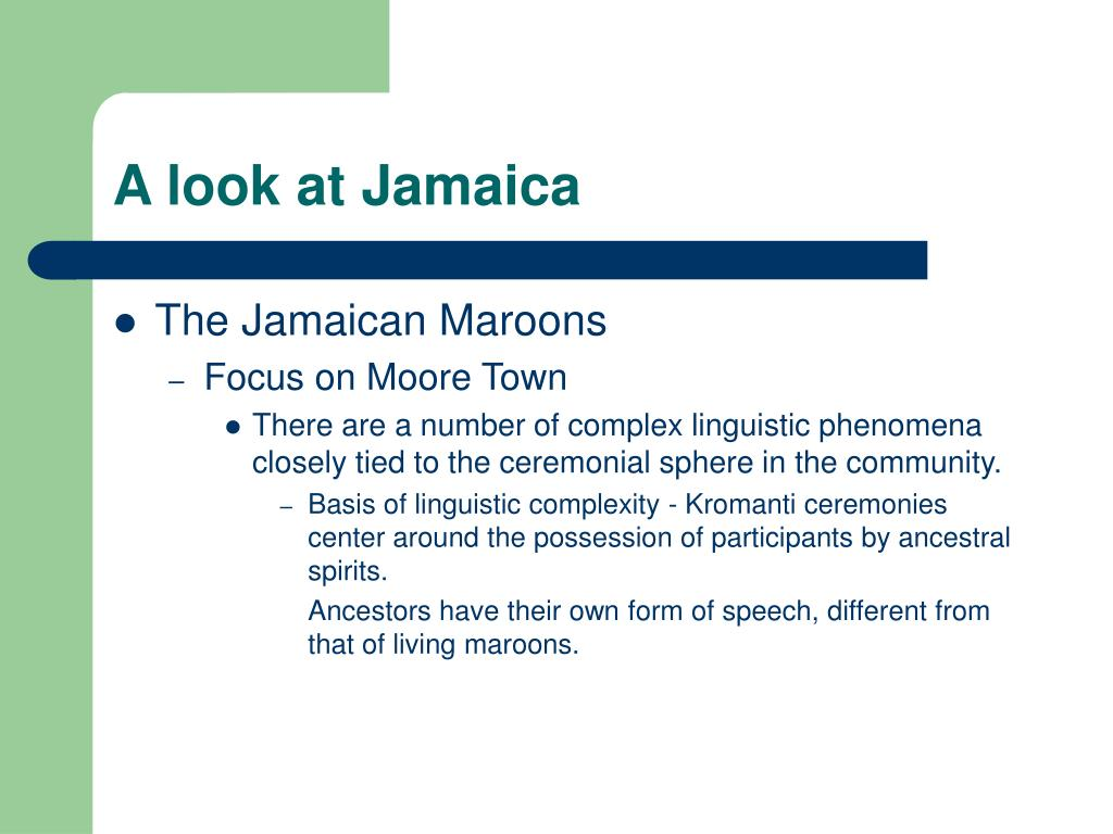 A look at Jamaica