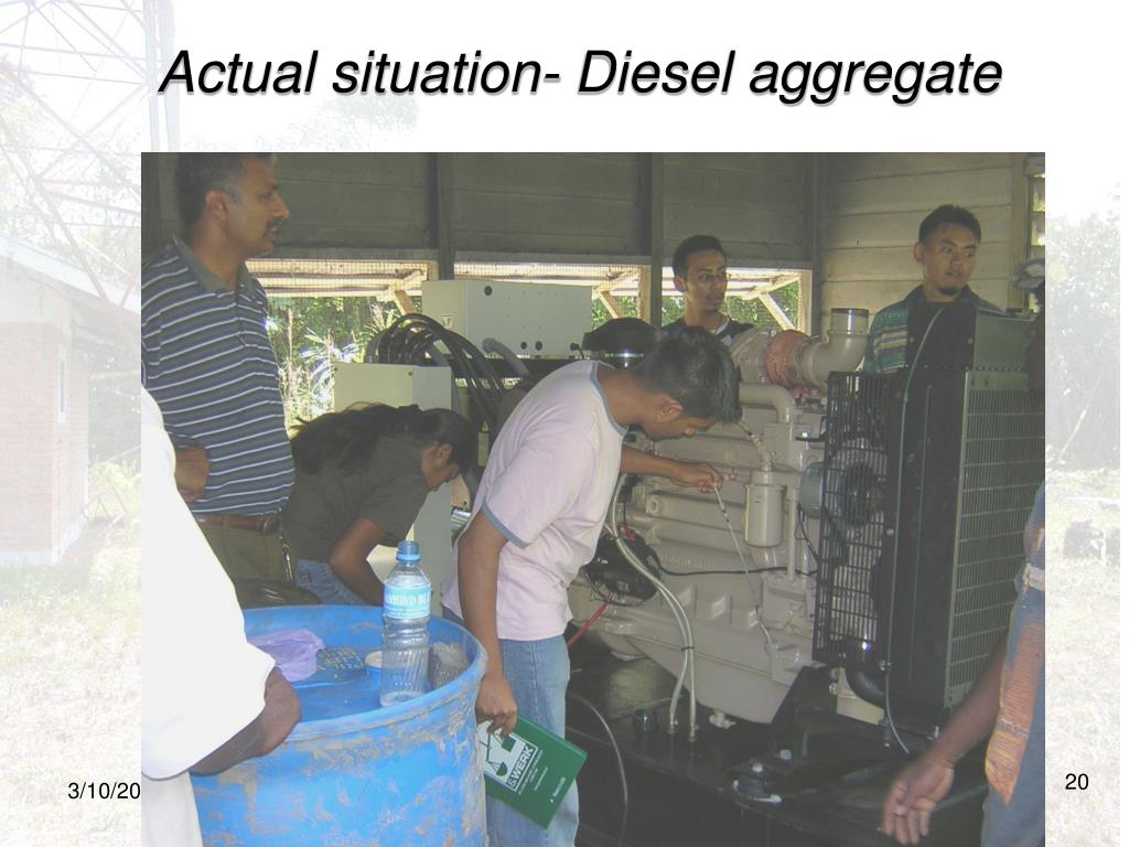 Actual situation- Diesel aggregate