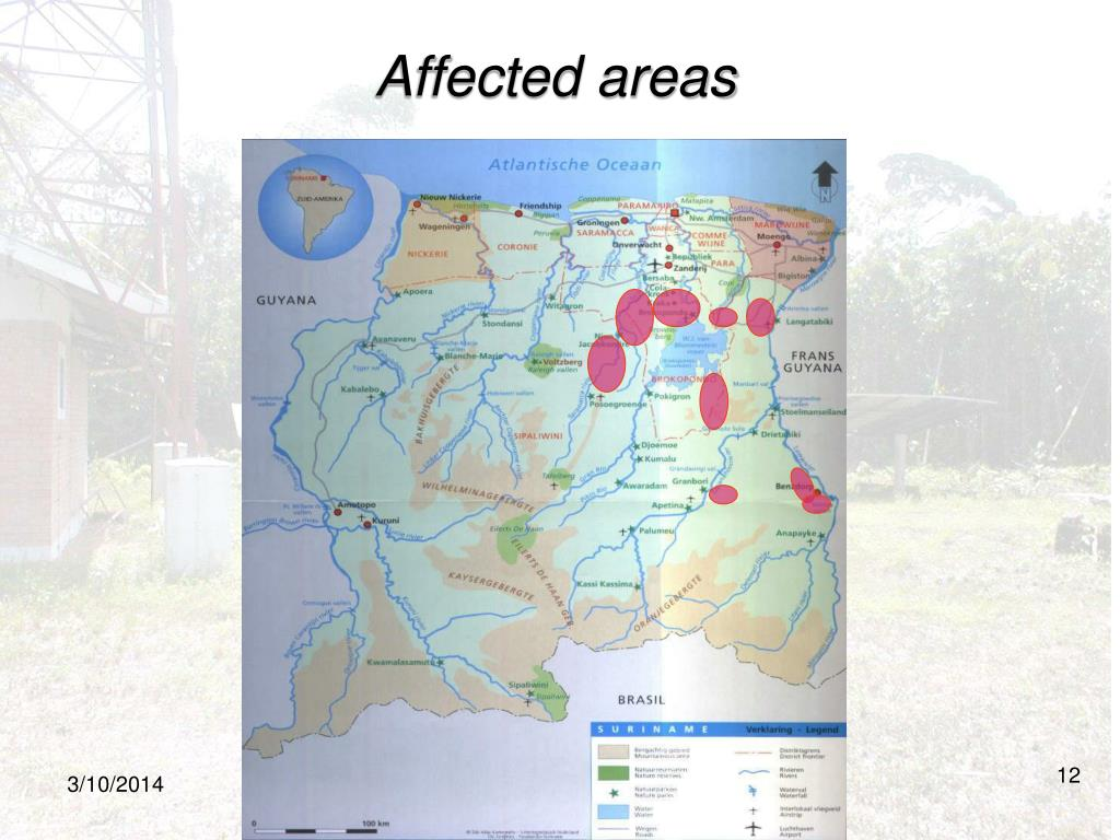 Affected areas