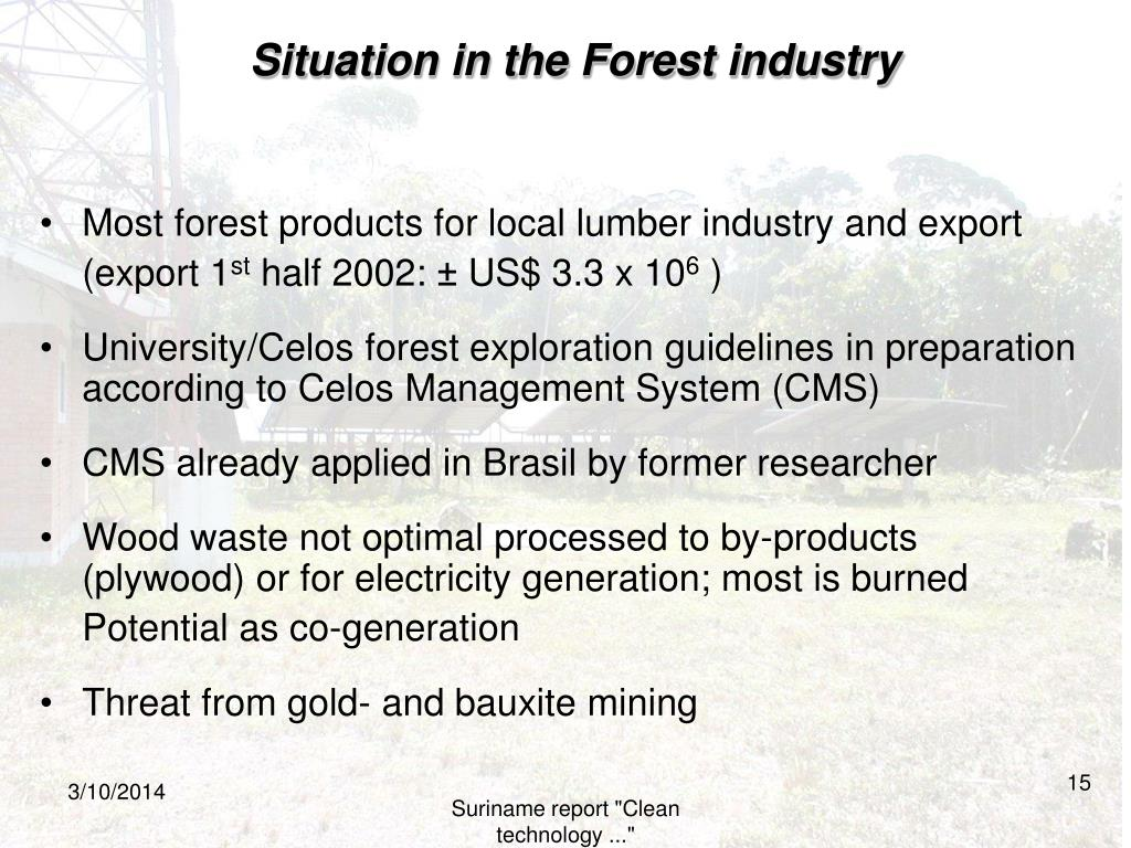 Situation in the Forest industry