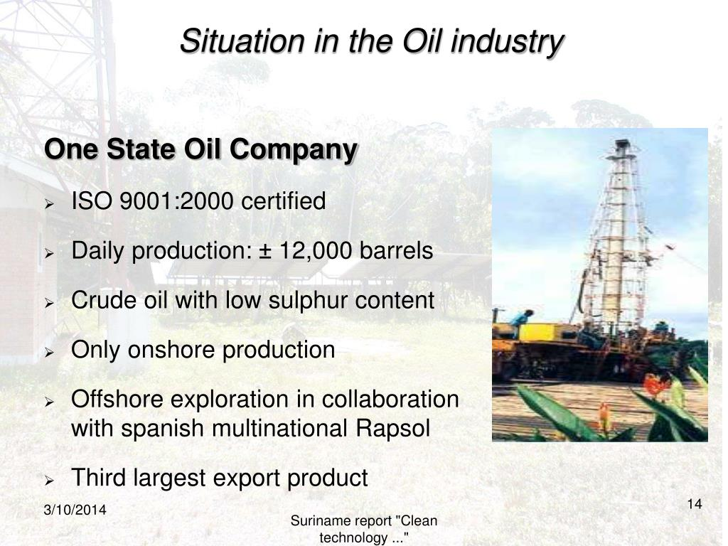 Situation in the Oil industry