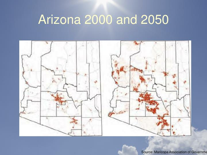 Arizona 2000 and 2050
