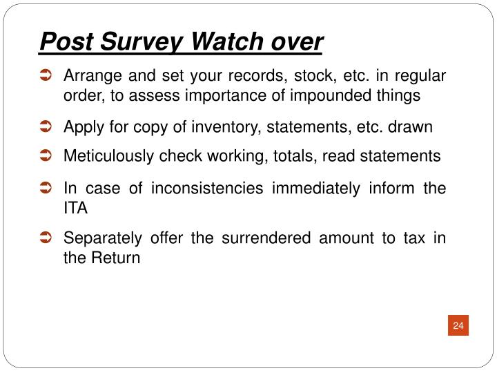 Arrange and set your records, stock, etc. in regular order, to assess importance of impounded things