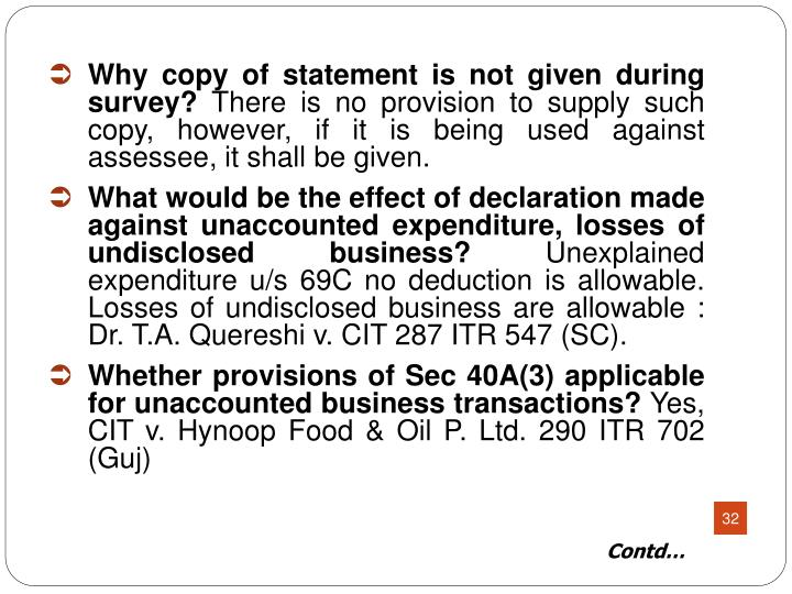 Why copy of statement is not given during survey?