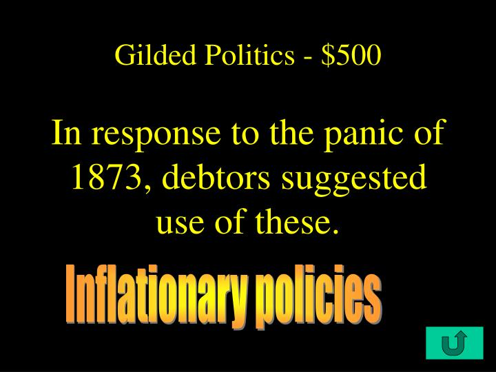 Gilded Politics - $500