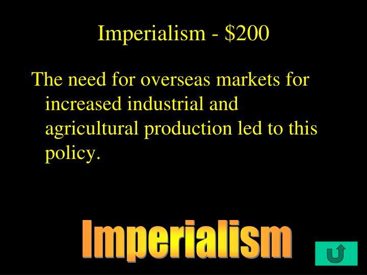 Imperialism - $200