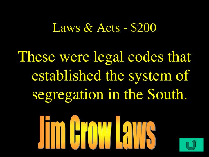 Laws & Acts - $200