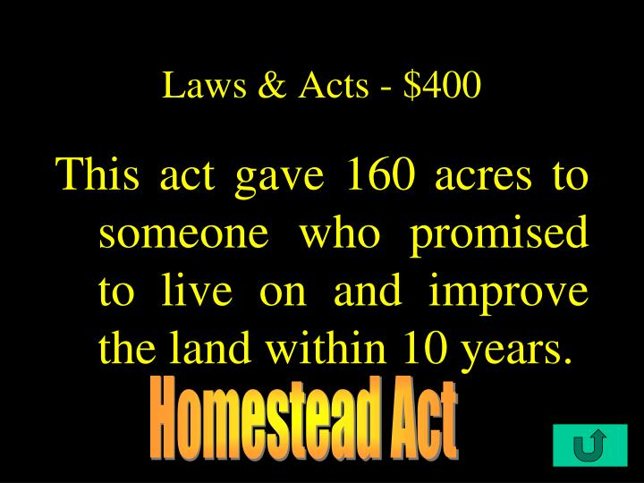 Laws & Acts - $400