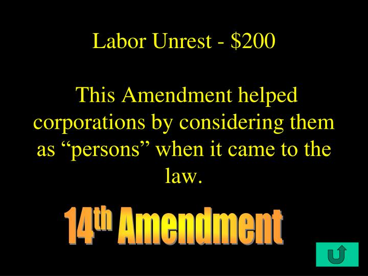 Labor Unrest - $200