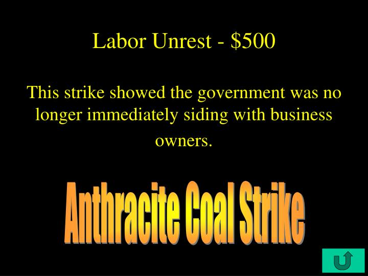 Labor Unrest - $500