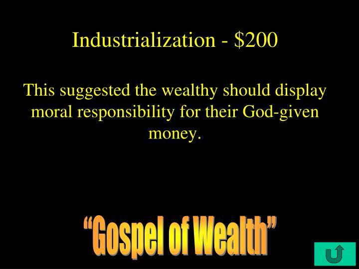 Industrialization - $200