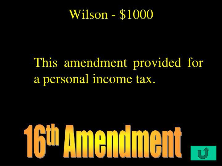 Wilson - $1000