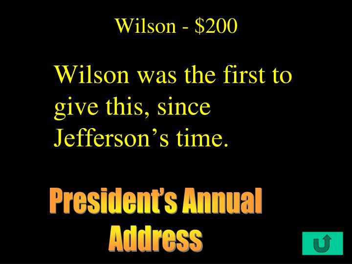 Wilson - $200