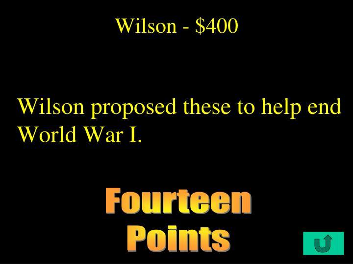 Wilson - $400