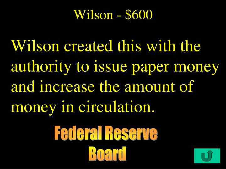 Wilson - $600