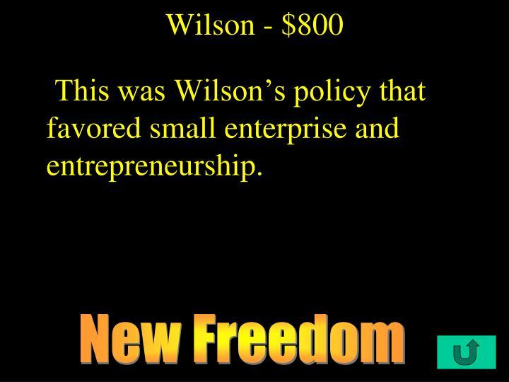 Wilson - $800