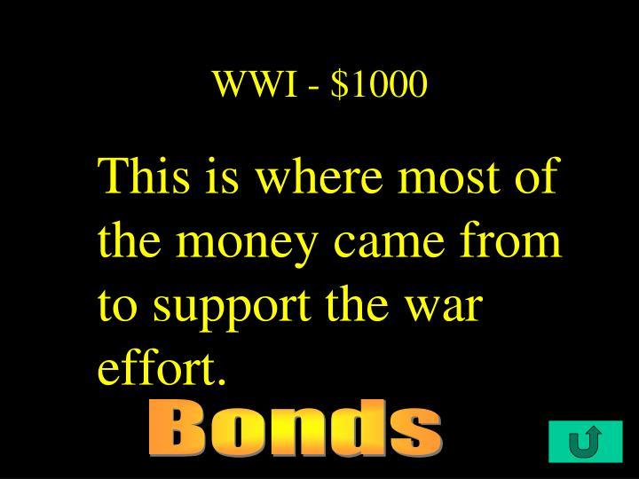 WWI - $1000