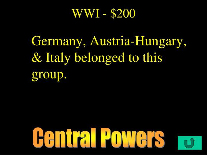 WWI - $200
