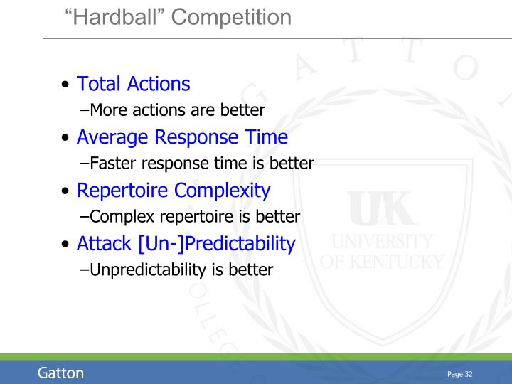 """Hardball"" Competition"