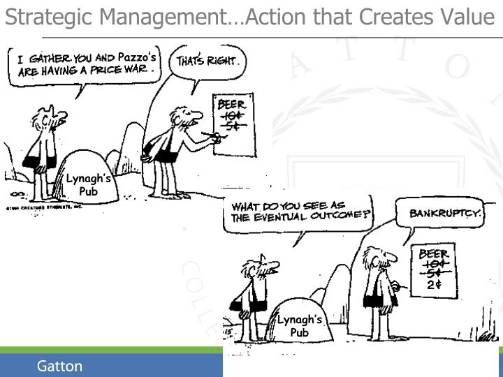 Strategic management action that creates value