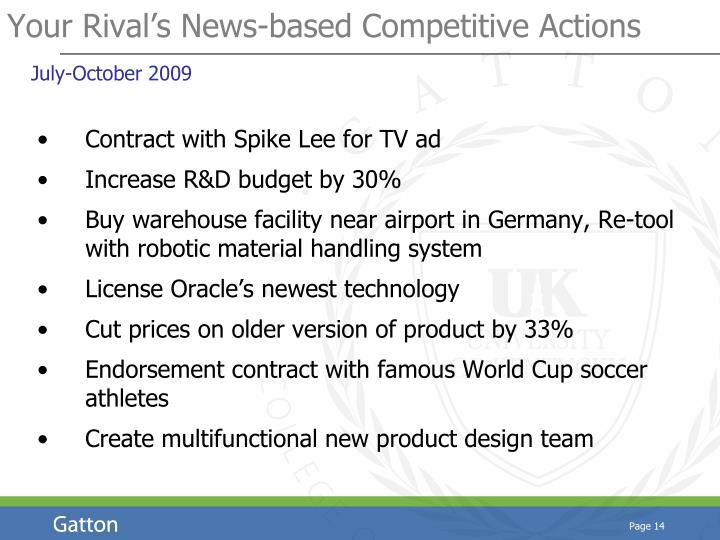 Your Rival's News-based Competitive Actions