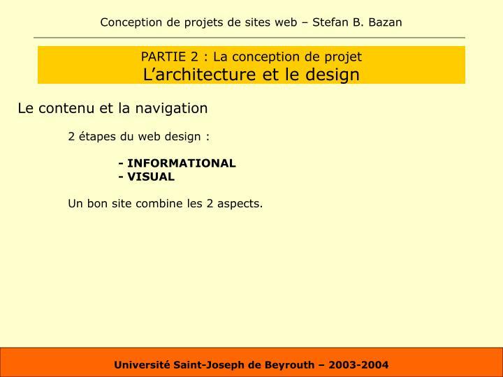 PARTIE 2 : La conception de projet