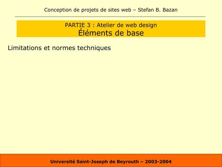 PARTIE 3 : Atelier de web design