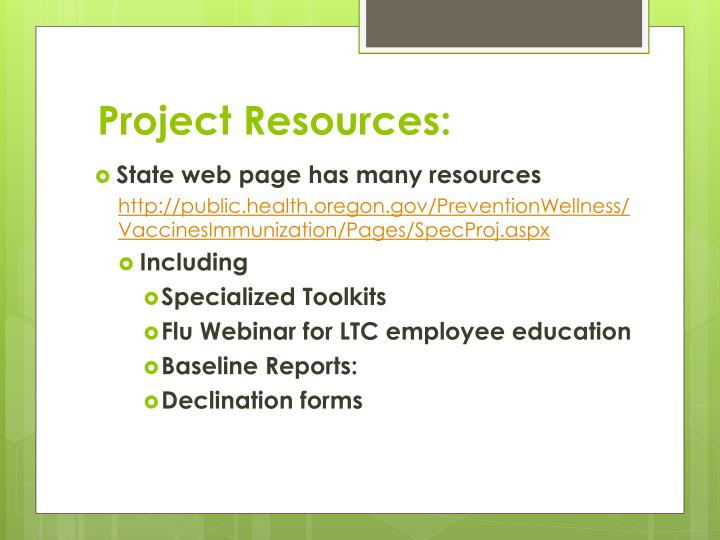 Project Resources: