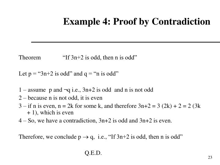 Example 4: Proof by Contradiction