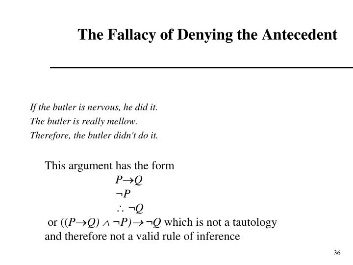 The Fallacy of Denying the Antecedent