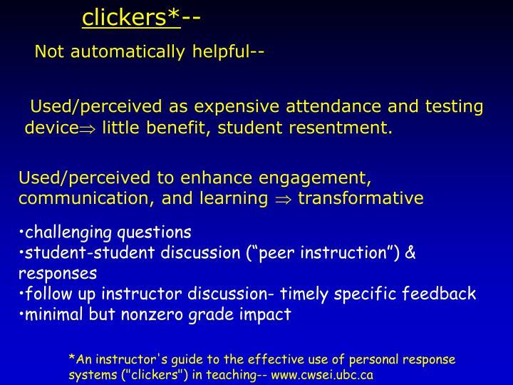 clickers*