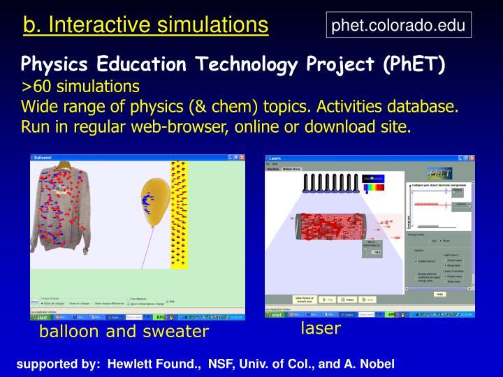 b. Interactive simulations