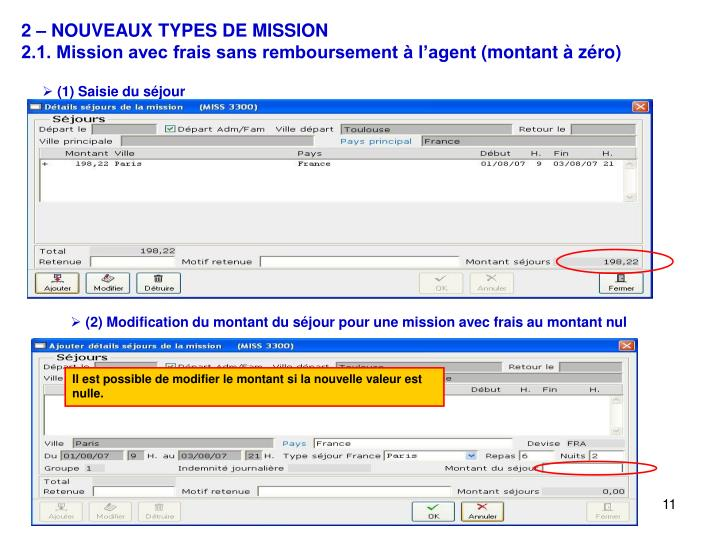 2 – NOUVEAUX TYPES DE MISSION