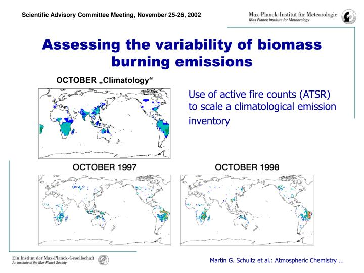 Assessing the variability of biomass burning emissions