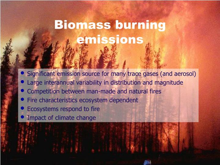 Biomass burning emissions