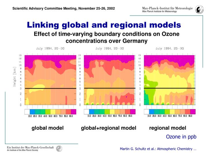 Linking global and regional models