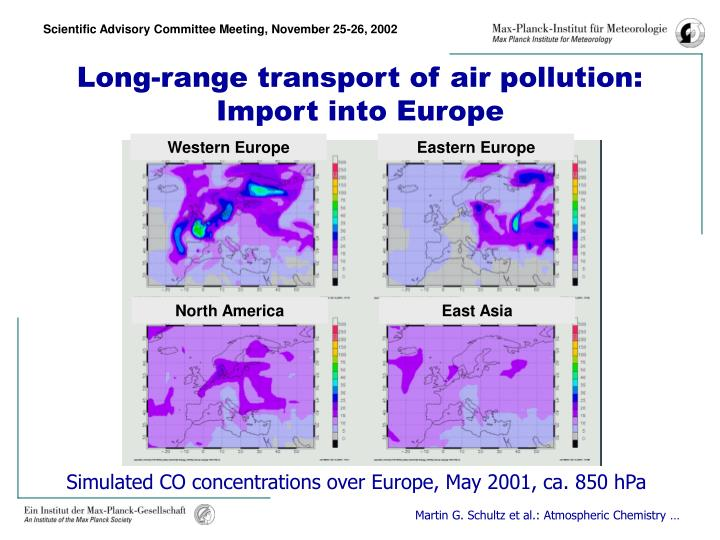 Long-range transport of air pollution: