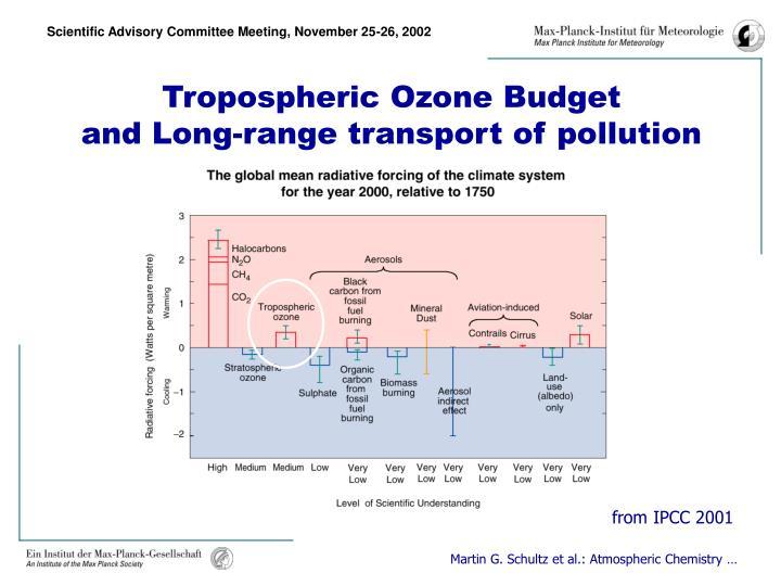Tropospheric Ozone Budget