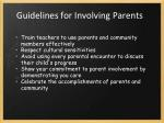 guidelines for involving parents1