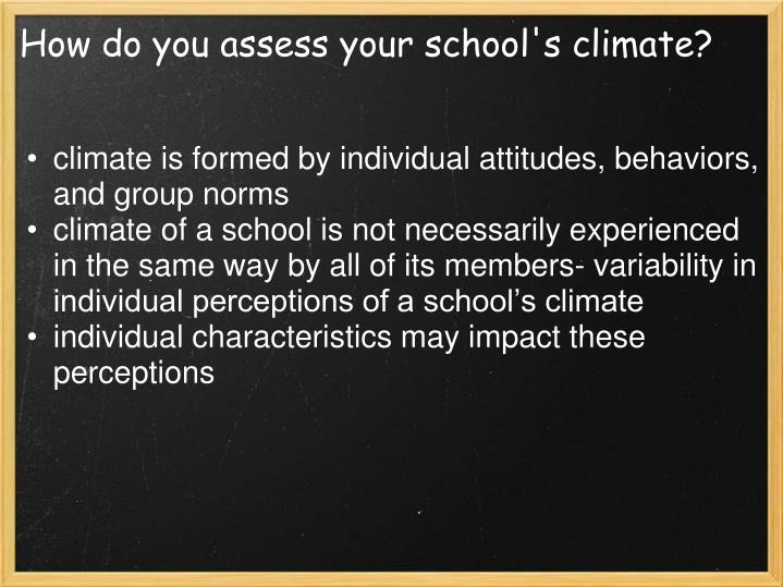 How do you assess your school's climate?
