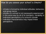 how do you assess your school s climate