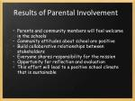 results of parental involvement