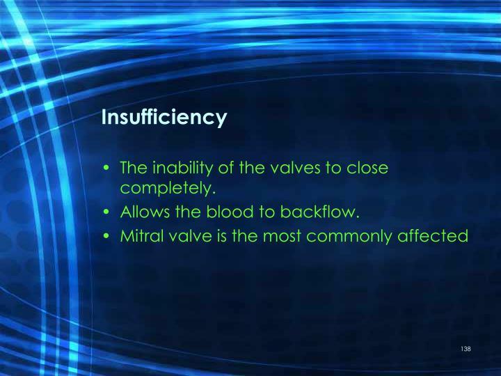 Insufficiency