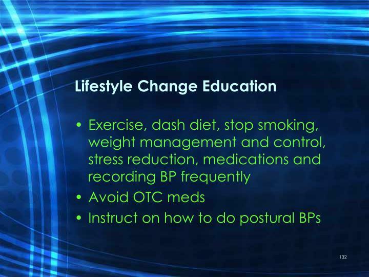 Lifestyle Change Education
