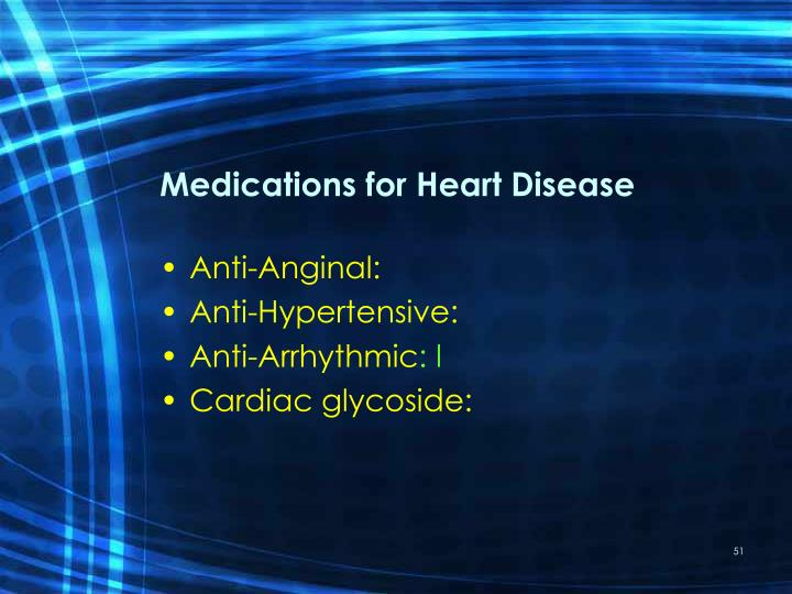Medications for Heart Disease