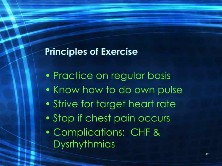 Principles of Exercise