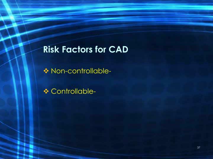 Risk Factors for CAD