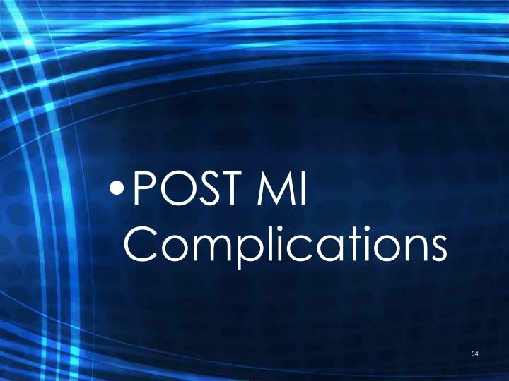 POST MI Complications